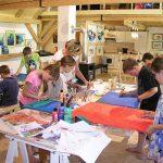 Malworkshop mit Schülern 6