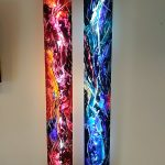 2 Wand Panels mit LED-Streifen